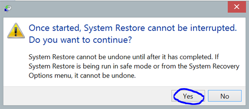 How To Run System Restore In Windows 8